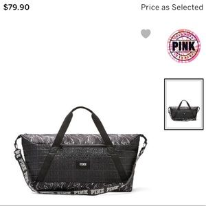Victoria Secret Pink Black Duffle Bag
